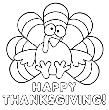 Turkey Happy Thanksgiving Coloring Pages To Print