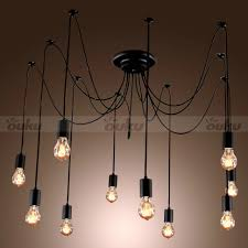 interior 10 edison light bulb chandelier artistic light fixtures