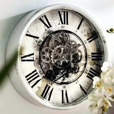 Moving Wall Clock New Round Mirror Cogs Seiko Melody