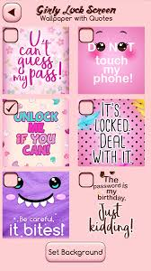 Girly Lock Screen Wallpaper With Quotes 25 Screenshot 2