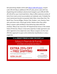 Macy's Coupons - For Happy Online Shopping By ...