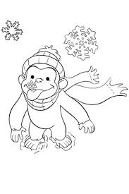 AltCurious George Coloring Pages Winter
