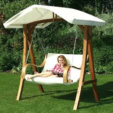 Garden Swing Bench Canopy Small Size Patio Furniture Swing Bed