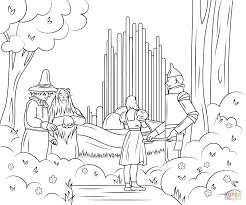 Click The Wizard Of Oz Emerald City Coloring Pages To View Printable