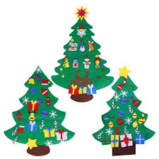 Kids DIY Felt Christmas Tree With Ornaments Children Gifts For 2018 New Year Door Wall