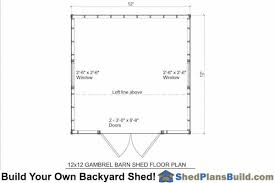 12x16 Gambrel Shed Kits by 12x12 Gambrel Shed Plans Small Barn Shed