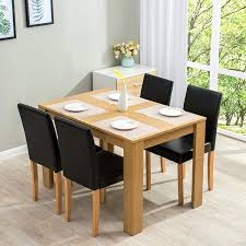 5 Piece Dining Room Set 4 Seater Table With Chairs