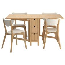 Great Ikea Folding Dining Table With Room Chairs And