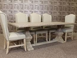 Creative Decoration Distressed White Dining Table Tables Wash Set