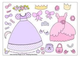 Princess Paper Dolls Clothes