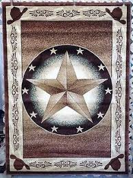 3X4 3X7 Or 6X8 Brown Texas Star Country Western Cowboy Hats Area Rugs Carpets