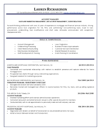 Account Manager Resume 1