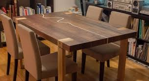 Solid Wood Table Walnut And Cherry 4 To 6 People Design