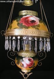 Antique Kerosene Lanterns Value by Bradley And Hubbard Hanging Oil Lamp Oil Lamp Antiques