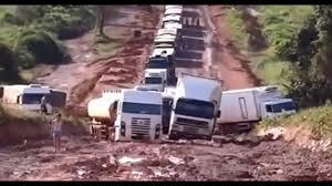 100 Stuck Trucks Many Big Trucks In Muddy Road Best Truck Fails 2017 YouTube