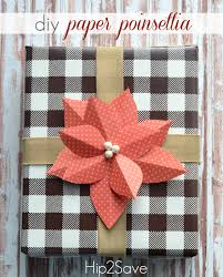 DIY Paper Poinsettia Gift Topper Easy Craft Hip2Save