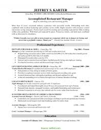 Complex Restaurant Manager Resume Sample Job Free New Examples Of Resumes
