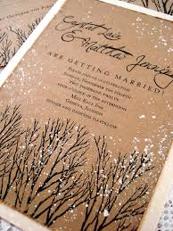 Winter Wedding Invitations Rustic Tree