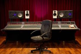 A Musical Recording Studio And Chair Stock Photo