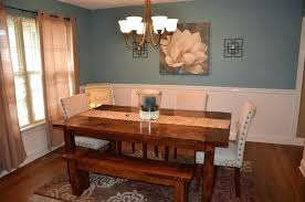 Farmhouse Dining Room Table Rustic With Leaf
