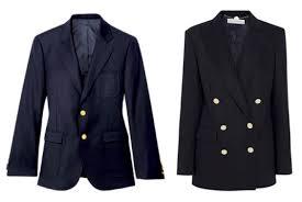navy blue blazer with gold buttons vcfa
