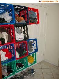 Love The Milk Crate Idea As Cheap Shelves