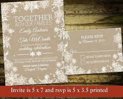 Unique Rustic Winter Wedding Invitations Or Invitation Printable By 86