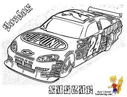 Pin Drawn Race Car Coloring Page 11