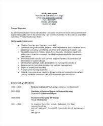 Sample Resume Objective Statement Objectives Free Example Format Examples