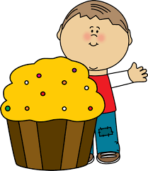 boy with cupcake