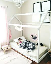 Twin Bed Frame For Toddler Girl Toddler Floor Beds Oh Happy Play