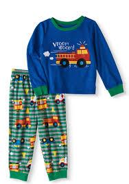Toddler Boys Fire Truck Pajamas 2pc Set - Walmart.com