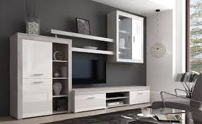 moderne wohnzimmerwand camberra 293cm cement