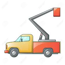 100 Pickup Truck Crane Icon Cartoon Style Royalty Free Cliparts Vectors And