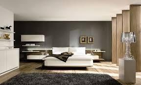 wohnideen für schlafzimmer design modern weiß grau schwarzer