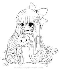 Line Art Coloring Pages 16 Chibi Cookie By YamPuff On DeviantART