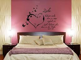 wandtattoo schlafzimmer spruch liebe bedeutet nicht dass es immer einfach ist