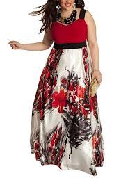 amz plus womens sleeveless sling print long swing dress at amazon