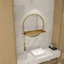 farbe gold größe 50 cm goldrahmen badezimmerspiegel