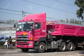 100 Pink Dump Truck CHIANG MAI THAILAND JANUARY 8 2018 Trailer Of