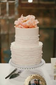 Custom Wedding Cake Blush Ruffles Sugarbeesweets