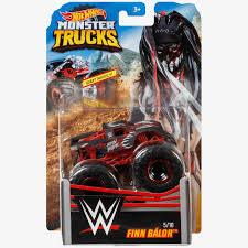 100 Hot Wheels Monster Truck Toys Finn Balor S WWE DieCast Collection