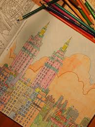 Fantastic Cities Coluoring Book Page