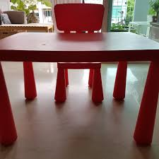 Ikea Kids Table & Chair In Red Ikea Mammut Kids Table And Chairs Mammut 2 Sells For 35 Origin Kritter Kids Table Chairs Fniture Tables Two High Quality Childrens Your Pixy Home 18 Diy Latt And Hacks Shelterness Set Of Sticker Designs Ikea Hackery Ikea
