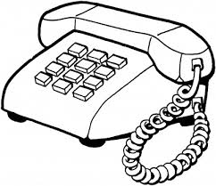 Telephone Clipart Black And White 4156