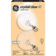 ge 40 watt 2 pack clear glass globe light bulbs 91840 ls plus