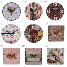Item 8 Large Vintage Wooden Wall Clock Shabby Chic Rustic Kitchen Home Antique Style