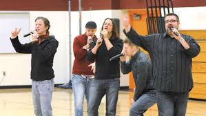 Home Free Vocal Band performs mini concert
