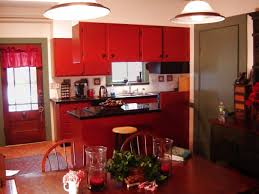 Black Kitchen Table Decorating Ideas by Rustic Red Kitchen Cabinets Zamp Co