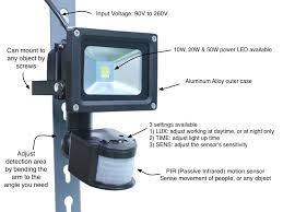 Motion Sensor LED Security Flood Light
